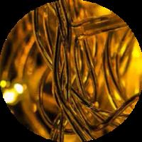 foto abstracta dorada con espiras