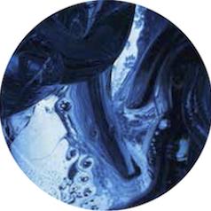 composición abstracta en tonos azulados