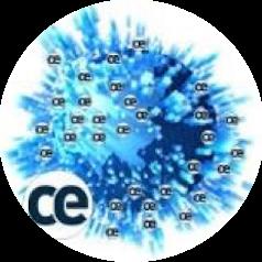 Composición de una fotografia del mundo con las oficinas de CE y el logo
